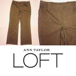 Ann Taylor LOFT Mid Rise Julie Fit Trouser Pant